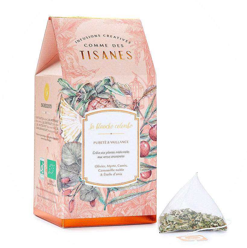 Infusette blanche colombe